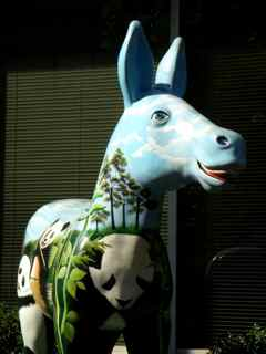 Political Environmental Donkey Statue