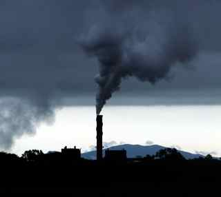 Factory Emitting Air Pollution