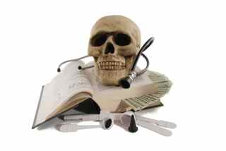 Skull stethoscope money medical doctor