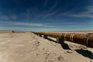 Pipeline through Atacama Desert