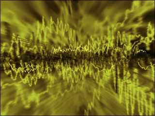 Radio Wave Frequency yellow green