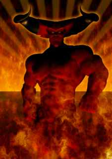 The Devil Burning in Hell